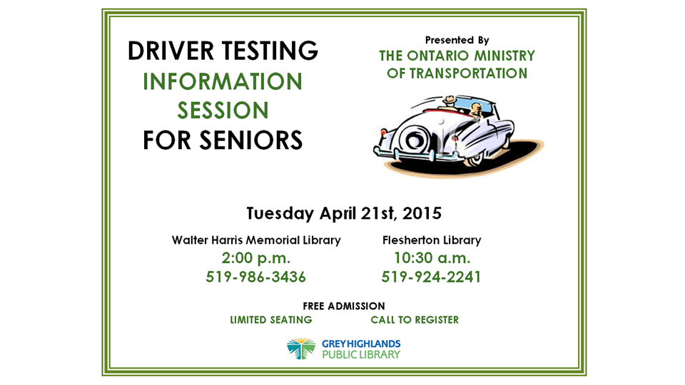 Seniors Driving Information Session